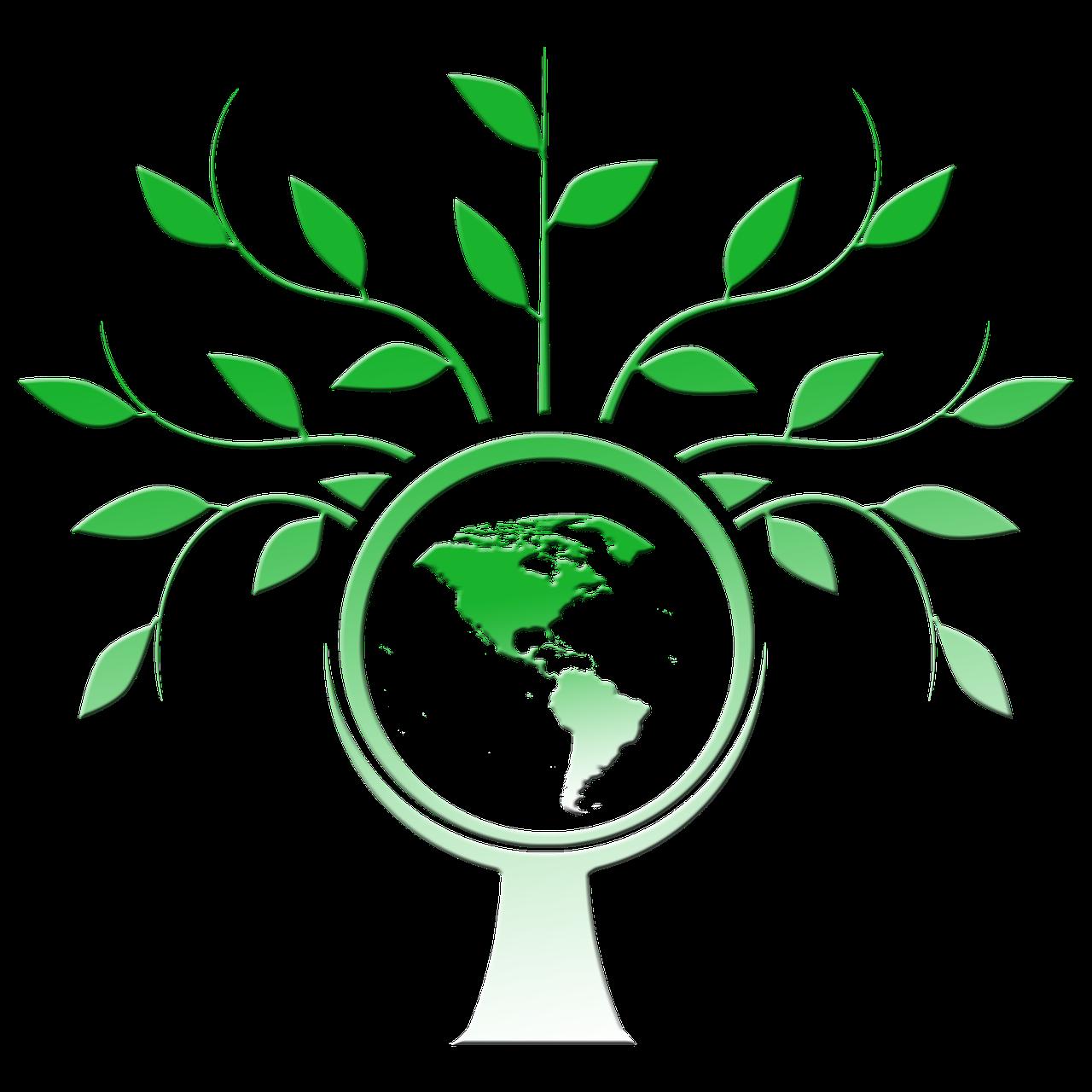 Baum umrandet Erde